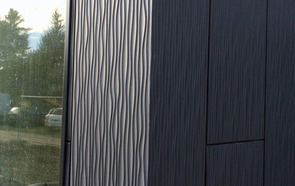 Lieu : Blotzheim,  Architectes : Cabinet Arpen,  Type de construction : neuf,  Système de pose : bardage sans ossature (BSO),  Produit : DUNE