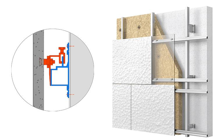 Parements de façade à inserts ; solution de bardage avec ou sans ossature