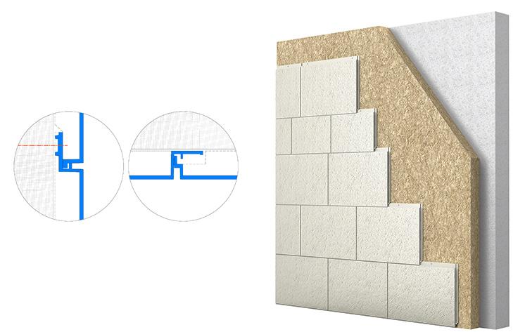 Fassaden- verkleidung mit Steckmontage